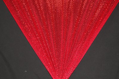 Red Dot Sequin Knit - WHOLESALE FABRIC - 12 Yard Bolt