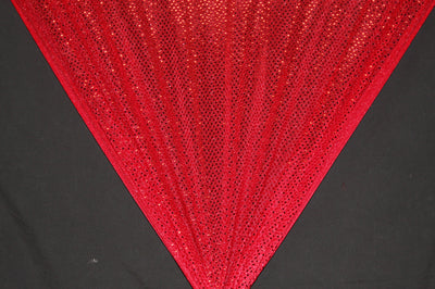 Red Dot Sequin Knit Fabric