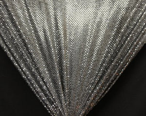Black/Silver Dot Sequin Knit - WHOLESALE FABRIC - 12 Yard Bolt