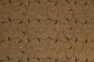 Discount Fabric SEMI-SHEER Black & Gold Embroidered Drapery