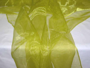 Lime Green Organza- WHOLESALE FABRIC- 55 Yard Bolt