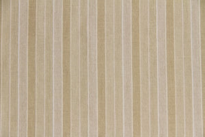 "60"" Cream Tones Semi-Sheer Stripe Drapery Fabric"