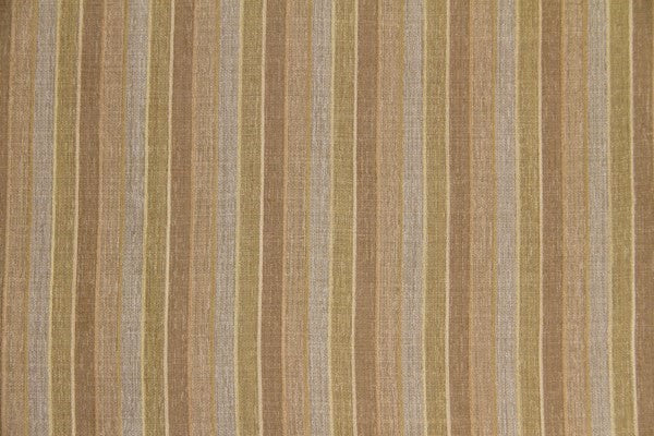Discount Fabric SEMI-SHEER Taupe & Olive Stripe Drapery
