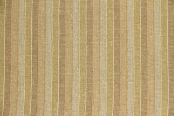 Discount Fabric SEMI-SHEER Gold Tones Stripe Drapery