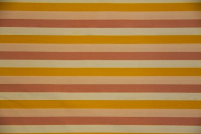Gold/Peach/Tan/Ivory Striped Nylon Spandex Fabric