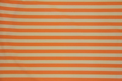 Ivory/Orange Striped Nylon Spandex Fabric