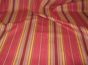 "62"" Red/Gold/Green Stripe Denim Fabric"