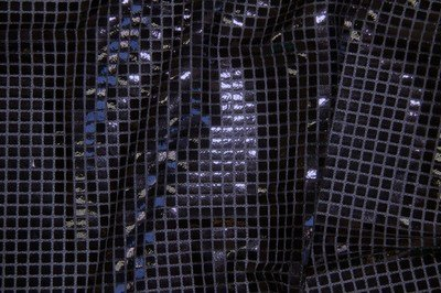 Black Square Sequin Knit Fabric