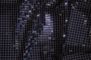 Black Square Sequin Knit - WHOLESALE FABRIC - 12 Yard Bolt