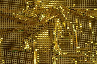 Gold Square Sequin Knit Fabric