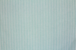 "59"" Teal and White Stripe Poly/Cotton Fabric"