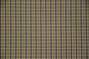"58"" Navy/Yellow/Cream Plaid Poly/Cotton Fabric"