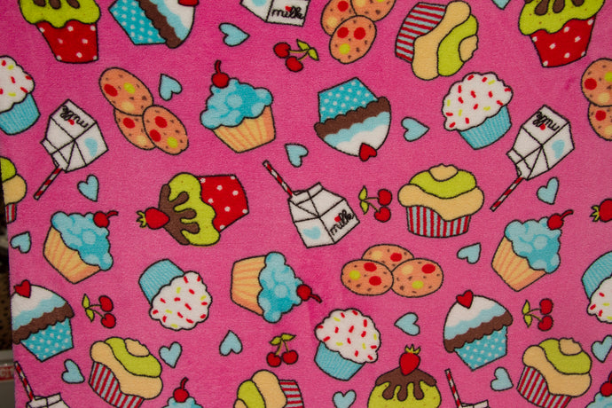 Ultra Plush Whisper Fleece Fabric--Sweet Shop Pink
