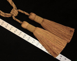 "Tieback, 9"" Double Tassel Multiple Shades of Gold"