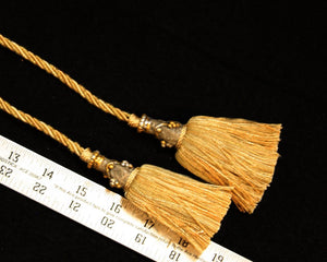 Chair Tie, Double Tassel Gold/Tan