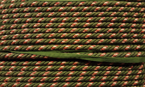 "1/2"" Olive, Beige & Burnt Sienna Decorative Cording With Lip"