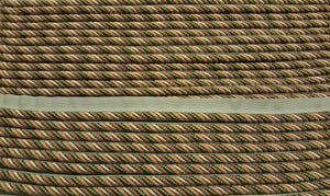 "1/4"" Tan, Taupe, Beige & Olive Decorative Cording With Lip"