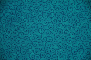 "108"" Turquoise Extra Wide 100% Cotton Fabric - Tilt-A-Whirl"