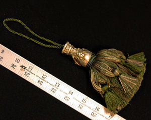 "5"" Tassel, Fancy Head in Greens & Taupe"
