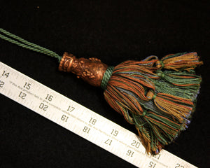 "6"" Fancy Verdigris/Copper Tassel"