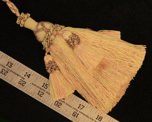 "6"" Tassel in Pink, Cream & Sage"