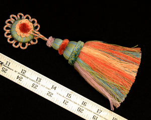 "5 1/2"" Tassel with Rosette Multi-colored"