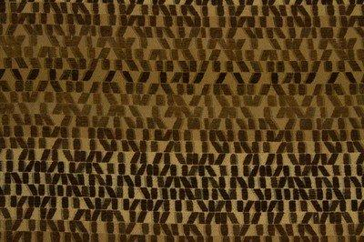 Discount Fabric JACQUARD Brown Staggered Rectangle Upholstery & Drapery