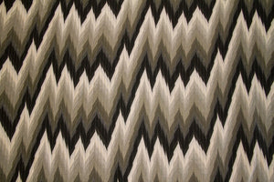 Discount Fabric JACQUARD Charcoal Flame Stitch Upholstery & Drapery