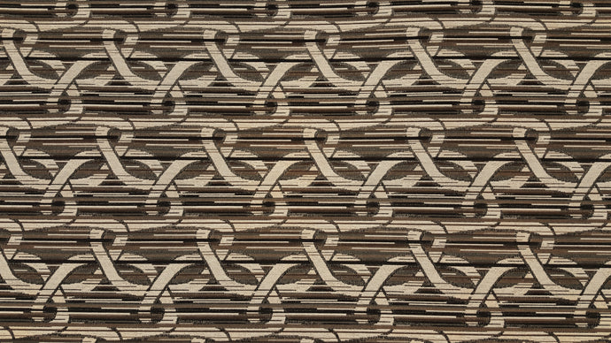 Discount Fabric JACQUARD Black, Brown, Gray, Taupe & Oatmeal Interlocking Loop Upholstery
