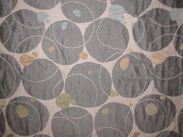 Discount Fabric JACQUARD Gray Bubble Upholstery & Drapery
