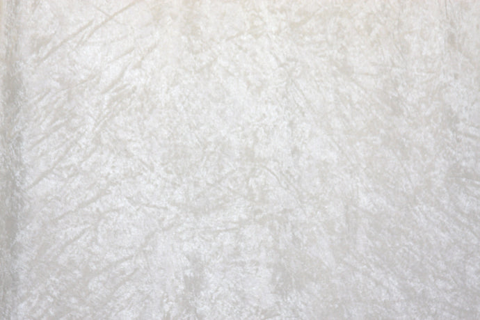 White Crushed Velour - WHOLESALE FABRIC - 15 Yard Bolt