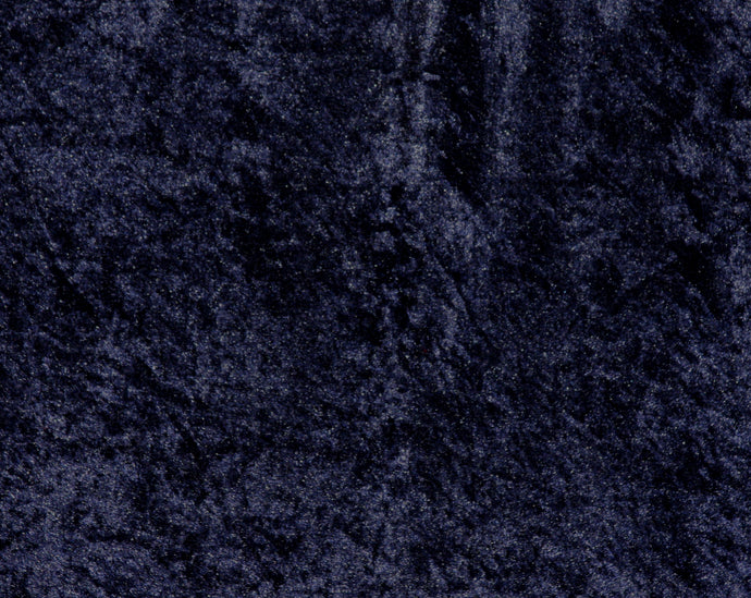 Navy Crushed Velour - WHOLESALE FABRIC - 15 Yard Bolt