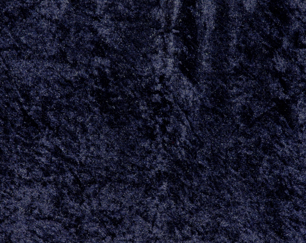 Navy Crushed Velour-WHOLESALE FABRIC- 15 Yard Bolt