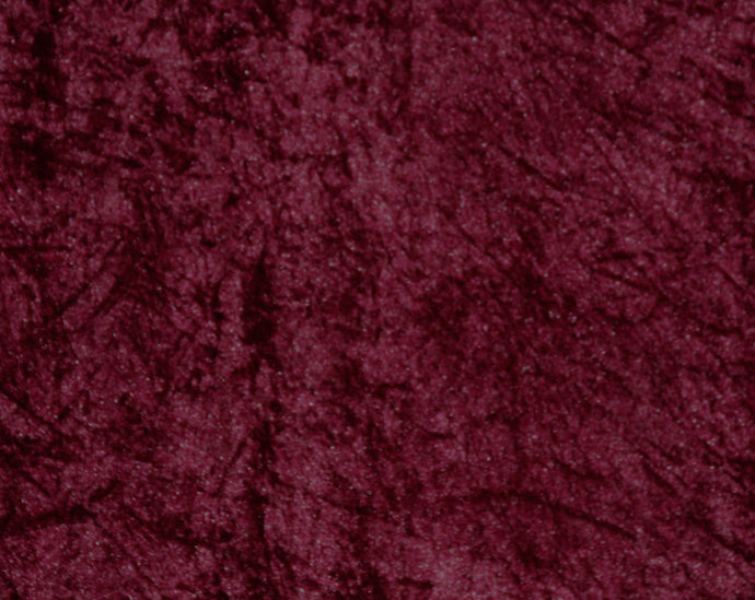 Burgundy Crushed Velour - WHOLESALE FABRIC - 15 Yard Bolt