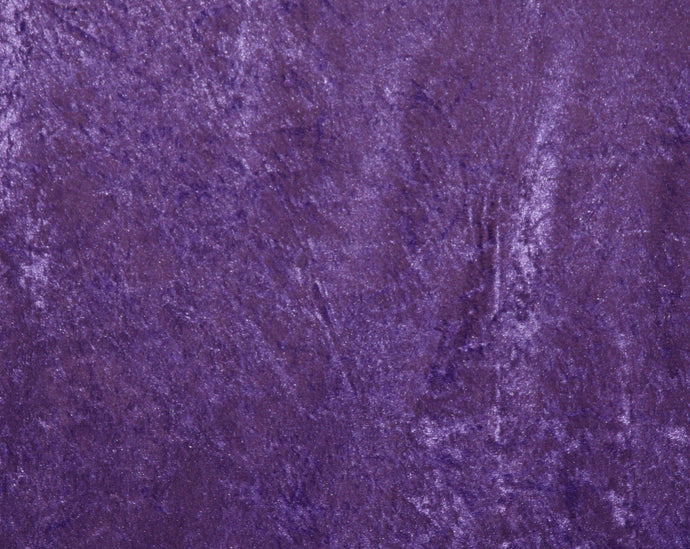 Purple Crushed Velour Fabric