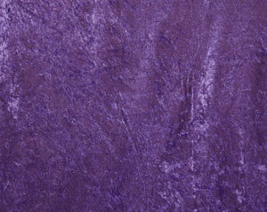 Purple Crushed Velour - WHOLESALE FABRIC - 15 Yard Bolt