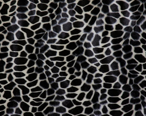 Giraffe Velour Animal Print Fabric