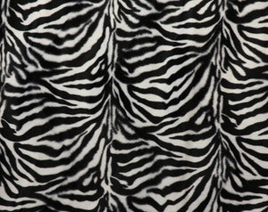 Black & White Zebra Velour Fabric
