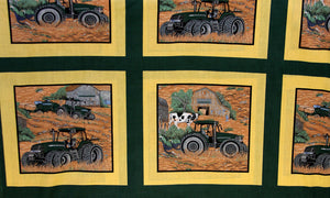 Tractor Green Cheater's Quilt