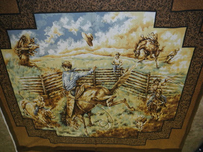 Rawhide WALL HANGING 100% Cotton Fabric