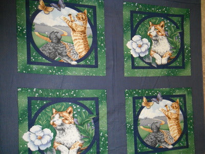 Cats Eye View PILLOW PANEL 100% Cotton Fabric