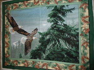 Eagle Wings WALL HANGING 100% Cotton Fabric