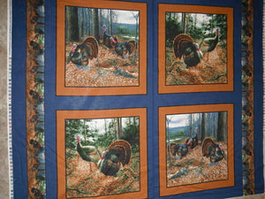Morning Gobblers PILLOW PANEL 100% Cotton
