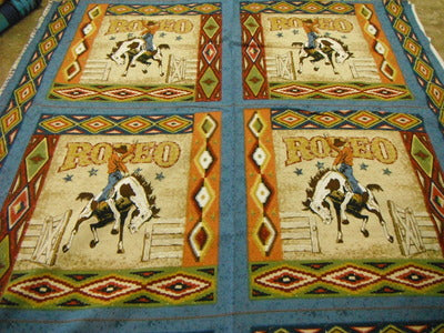 Rodeo PILLOW PANEL 100% Cotton Fabric