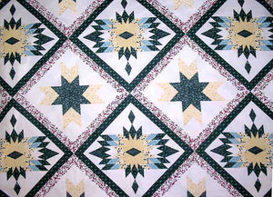Bear Claw-Hunter & Gold Cheater's Quilt Fabric