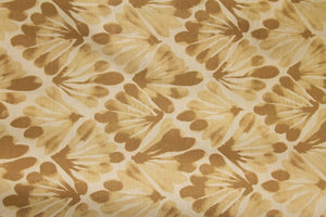 "101"" Tan Feather Geometric EXTRA WIDE Percale Sheeting Fabric"