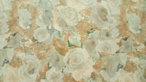 "44"" Sage, Tan & Blue Gray Watercolor Poly Cotton Fabric"