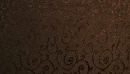 Discount Fabric JACQUARD Chocolate Brown Swirl Drapery