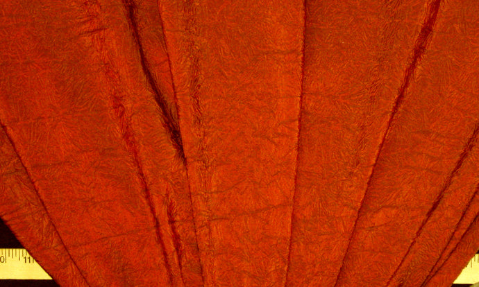 Deep Pumpkin Crushed Taffeta Fabric