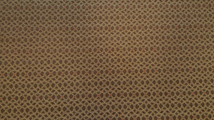 Discount Fabric JACQUARD Tan & Brown Medallion Drapery